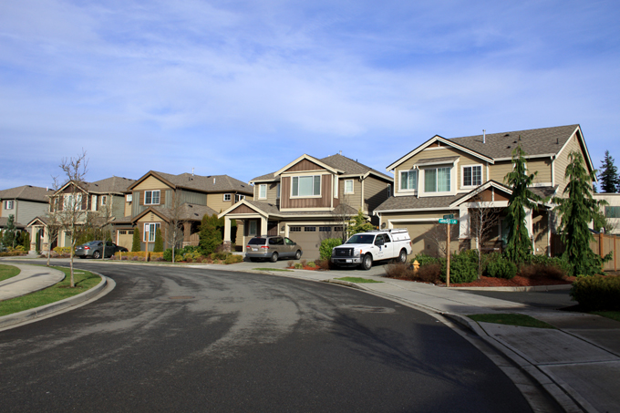 The Arbors at Harbour Pointe, a residential development next to Village Center. It was built according to a planned residential development option under R-7200(S) zoning.