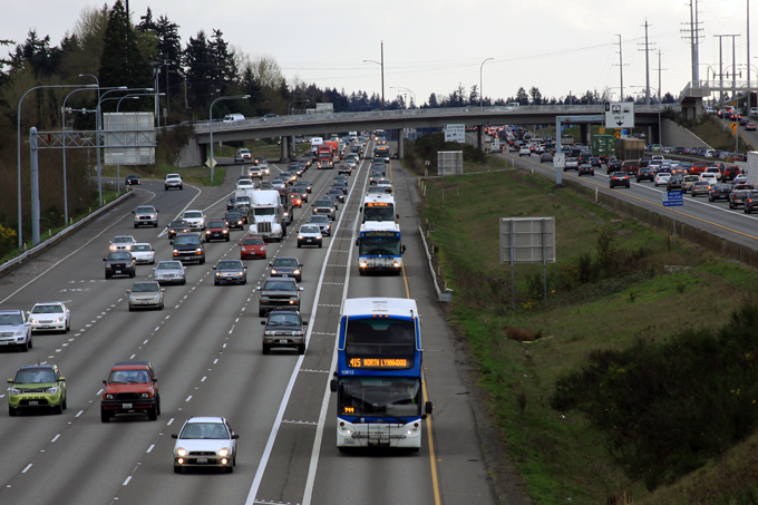 Northbound I-5 in Lynnwood